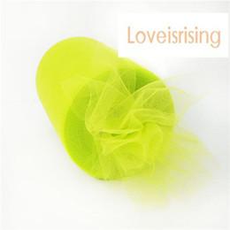 """6""""x100yd Spool Apple Green Tulle Rolls Tutu DIY Craft Wedding Banquet Fabric Decor"""