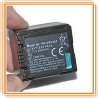 Wholesale VW VBG260 VWVBG260 mAh Camera Battery For PANASONIC HS300 HS250 SDR SD7 HDC MDH1 High Replacement Batteria Batterij