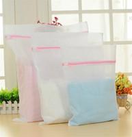 Wholesale 2014 New Thicken Fine structure Mesh Laundry Bag Mesh Net Wash Bag