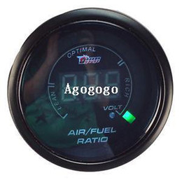 Wholesale New Black inch mm Car Motor Digital LED Air Fuel Ratio Gauge Auto Car Instruments In Stock