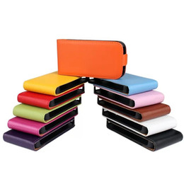 Wholesale For Samsung Galaxy Trend Plus S7580 S5 mini G800 Ace ace3 S7272 Grand Neo True Genuine Flip vertical Leather cover case cases