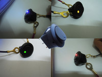 Wholesale Red Green Yellow Blue Car V Round Rocker Boat LED Light Toggle SPST Switch Auto Motorcycle