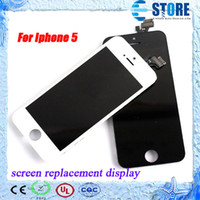 Cheap High quality LCD for Iphone 5 Screen Replacement Display touch Screen for iphone 5 Digitizer,DHL free,wu