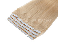 Wholesale Emosa quot inches Blonde g Tape PU Feather Hair Remy Human Hair Extensions Real Brazilian Hair Silky Soft Natural Hair