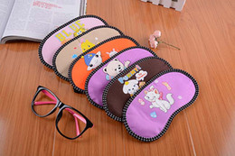 Wholesale Korean version of the cartoon character sleep goggles goggles goggles cute eye shading creative expression