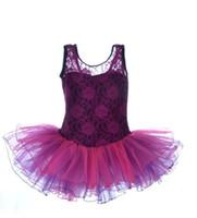 Wholesale Girl Lace Leotard Ballet Dress Tutu Dance Costume Dresses for Yrs by DHL