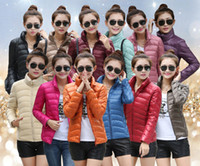Wholesale 2014 Winter Down Coat Candy Color Jacket Coat Duck Feather Down Coat Women Short Down Coat Plus Size Parka Fashion Clothing