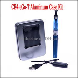 Aluminum Case Single Kits CE4 Atomizer 650mah 900mah 1100mah eGo-T Battery CE4 Electronic Cigarettes E Cigarette Cig Various Colors Instock