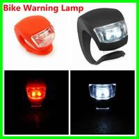 Wholesale Bike Light Silicone Frog Front Rear LED Flash Light Warning Lamp Red black Free DHL