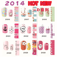 3D hello kitty stickers - nail new D stickers Have glue on the back ultrathin flower hello Kitty individual package style