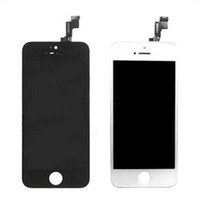 Cheap Wholesale - - Black White LCD Display & Touch Screen Digitizer Full Assembly for iPhone 5S Replacement Repair Parts