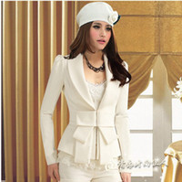 Women Blazer Regular New 2014 For White Blazer big bowknot cultivate one's morality long sleeve Blazers suit tailored suit wholesale small suit women
