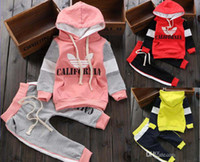 Wholesale New Fashion sport jogging Sweater suit two piece children Hedging outerwear Hoodies pants shampooers Boy Girls suits