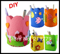 Wholesale Kids handmade pen holder Child fabric container for pen baby DIY Art Craft Material Kits Toy Children s Educational toys