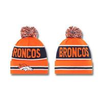 Wholesale Broncos Beanie Caps Football Team Beanies New Autumn Hats Top Design Knitted Caps Mens Womens Sports Beanie Hats Snow Hats
