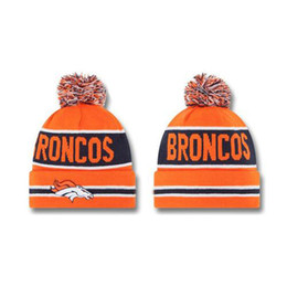 Wholesale Knit Snow Hat - Broncos Beanie Caps 2014 Football Team Beanies New Autumn Hats Top Design Knitted Caps Mens Womens Sports Beanie Hats Snow Hats