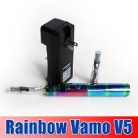 Cheap Rainbow Vamo V5 E Cig Starter Kit Vamo V5 Ego VV VW Mod Huge Vapor EGO Battery Free Shipping