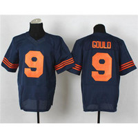 Football Men Short #9 Robbie Gould Jerseys Navy Blue Orange Name Number Embroidered High Quality Cheap American Football Jerseys Mens Team Football Shirts