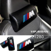Wholesale VIP Leather Embroidery M Auto Neck Pillows Headrest For BMW Any Car
