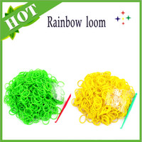 Link, Chain Silicone  top Quality Loom Bands Glitter Jelly Glow in the dark Dual Color Multi Color Rubber Bands Loom Band Wrist Bracelet (600 pcs + 24 S + 1 hook