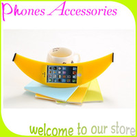 For Apple iPhone Silicone Yellow Big Banana Phone Case Silicone Soft Cases for iPhone 4 4S 5 5S Yellow Made in China