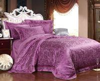 brand bedding sets - Brand New luxury cotton bedding set satin drill jacquard wedding home textile duvet cover set bed sheet bedspread
