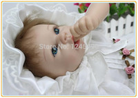 Cheap Baby's 1st gift 22inch 55cm imported silicon baby doll toy bonecas bebe reborn