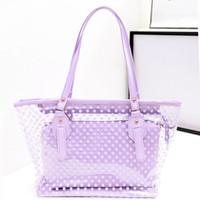 Women beach bag designer - Jell Transparent Bags New Fashion Handbags Candy Color Crystal Beach Bag Women Handbags Fake Designer Handbag