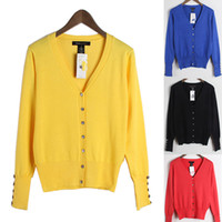 Women Casual V-Neck 13 Colors Women's Knitted Jackets Outwear V Neck Long Sleeve Autumn Cardigans Coat Ladies New Short Coats Jumpers YMD0801