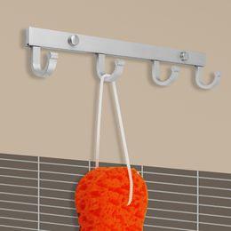 Wholesale towel racks Er Yue St antioxidant green space aluminum bathroom bedroom clothes hook hook hook rows of hooks Kitchen Robe hooks
