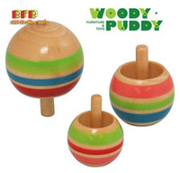 Wholesale 3pcs set High Quality Wooden Mini Spinning Top Children Early Educational Toys Parent Child Interaction Gift