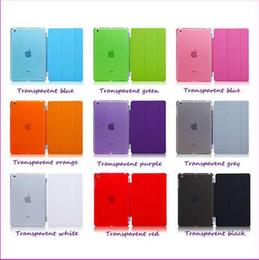 Air en cuir libre en Ligne-Livraison gratuite iPad air2 d'air mini-1pair 2 In One PU cuir Smart Cover Magnetic + cristal dur Retour Case Shell pour iPad Mini 2 Retina 9 couleurs