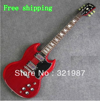 Semi-Hollow Guitar Right-handed 4 Strings Free shipping G -custom shop SG Standard Lightly Aged Electric Guitar Vintage Red