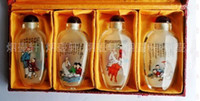Glass antique snuff - snuff bottle inside painting Chinese painting set traditional folk crafts arts a must