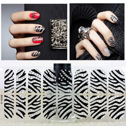 Wholesale nail new D fashion stickers Have glue on the back ultrathin transparent individual package cross grain style