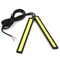 Wholesale cheap price V LED COB Car Auto DRL Driving Daytime Running Lamp Fog Light White cm