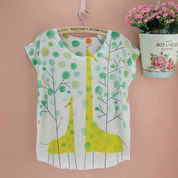 print giraffe student casual clothing resort casual wear for women