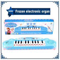 baby keyboards - Musical instruments toy for kids Frozen girl Cartoon electronic organ toy keyboard electronic baby piano with music song Educatio