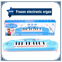 Wholesale Musical instruments toy for kids Frozen girl Cartoon electronic organ toy keyboard electronic baby piano with music song Educatio
