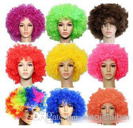 Wholesale NEW HOT Large ball head explosion COSplay fans wig clown wig fans