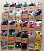 Cheap free shipping 120pcs=60pairs HUF SOCKS stockings maple leaf socks DGK sock High quality Men's Women's sock Jamaica