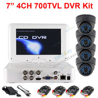 Wholesale Mini DVR System CH HDMI H DVR inch monitor TVL IR Dome Indoor Camera security kit