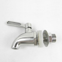 Wholesale SUS Stainless Steel Classical Design Wine or Beer Barrel bibcock Single Liver Faucet