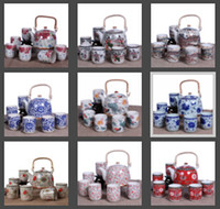 Wholesale Big Size Chinese Ceramic Kung Fu Tea Set Jingdezhen Porcelain ml Teapot ml Tea Cup Patterns For Choice