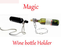 Wholesale 60pcs Magic Chain Lasso Rope Wine Rack Wine Bottle Holder Floating Illusion Rack Stand Art Gift for Party for Wedding