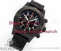 Sport Men's Black outdoor Factory Seller Brand In Box AAA Quality Super Avenger Black Chronograph Quartz Mens Watch Rubber Band Mens Date Sport Wrist Watches