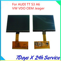 Wholesale For Audi TT VW LCD Cluster Display For AUDI S3 A6 VW VDO Jeager Free ship
