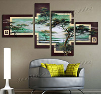 pictures - Canvas Wall Art Oil Painting Hand Painted Wall Art Cloud Forest African Art Wall Picture Modern Home Decoration Abstract Landscape Oil Paint
