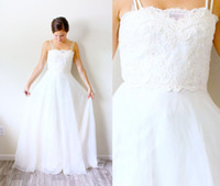 Cheap A-Line long wedding Dress Best Reference Images Spaghetti wedding gown