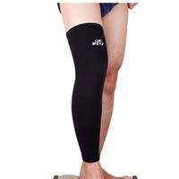Wholesale Elastic Sports Leg Knee Support Brace Wrap Protector Knee Pads Sleeve Cap Patella Guard Volleyball Long Knee Black